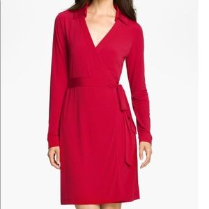 Calvin Klein gorgeous red wrap dress. Like new.